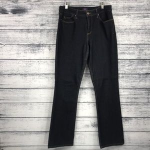 NYDJ Billie Mini Bootcut Dark Blue Jeans Size 10